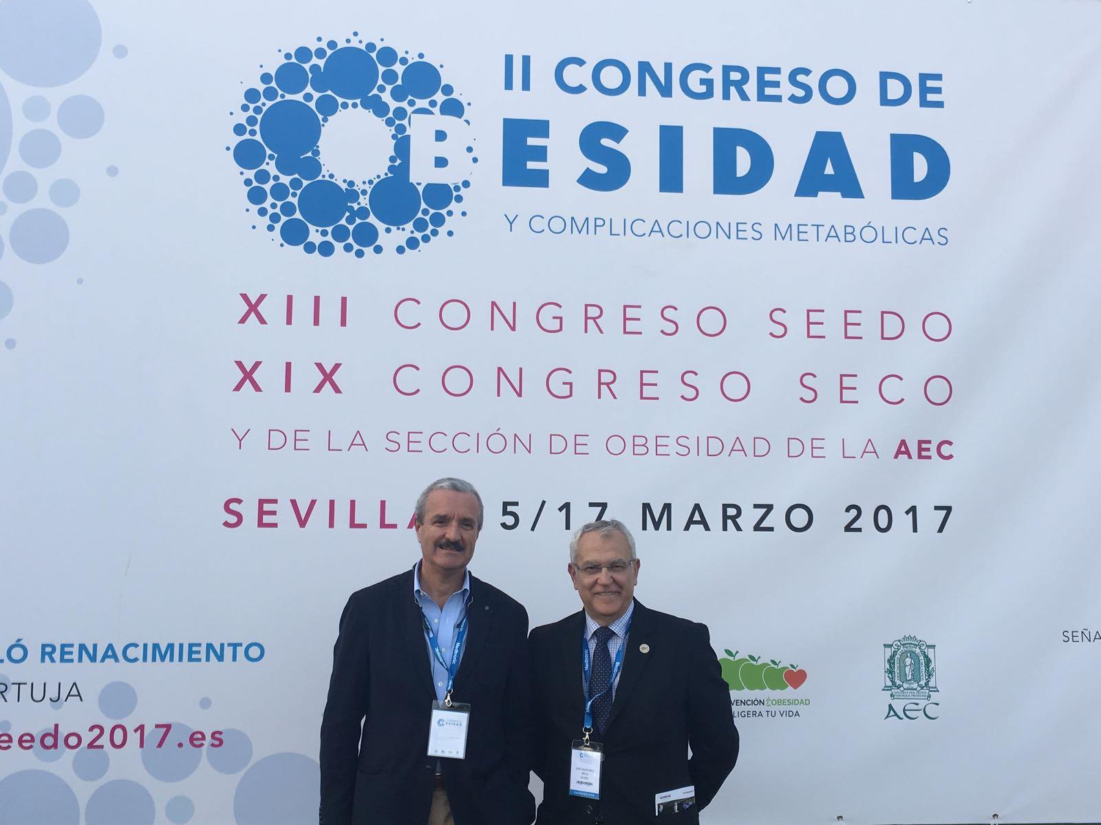 Los doctores Glückmann y Rivas en la SECO 2017