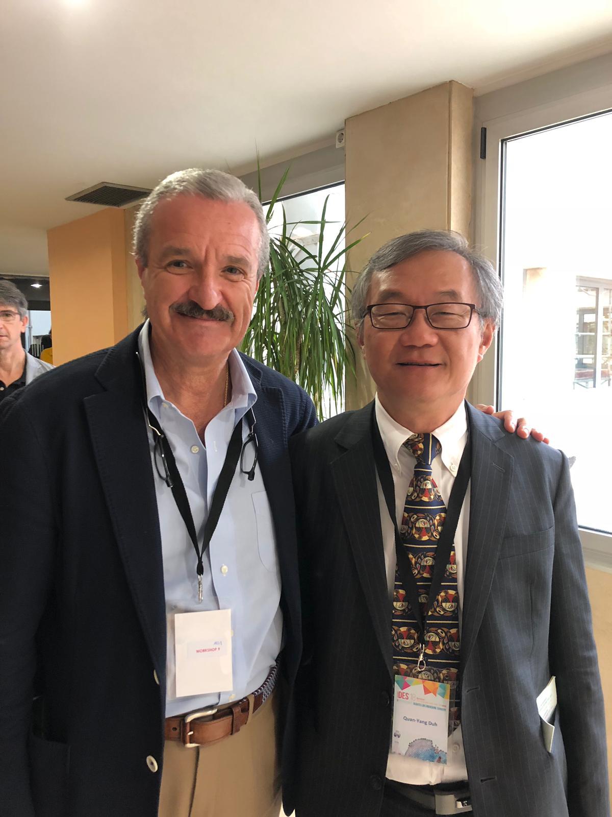 El Dr. Gluckmann con el Dr. Quan-Yang Duh de San Francisco (USA)